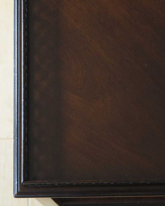 q-1595-f  アンティークオケージョナルテーブルの天板ズーム