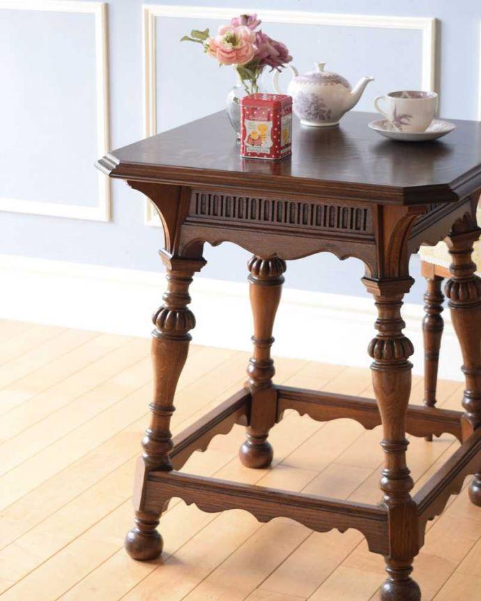 q-1604-f 英国アンティークコーヒーテーブルのズーム