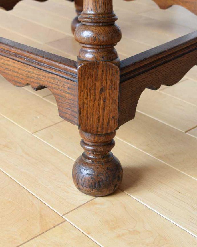 q-1604-f 英国アンティークコーヒーテーブルの脚