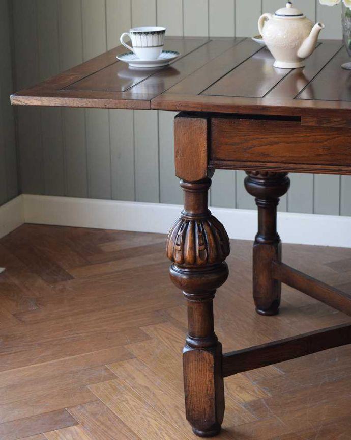 q-1608-f アンティークドローリーフテーブルのズーム
