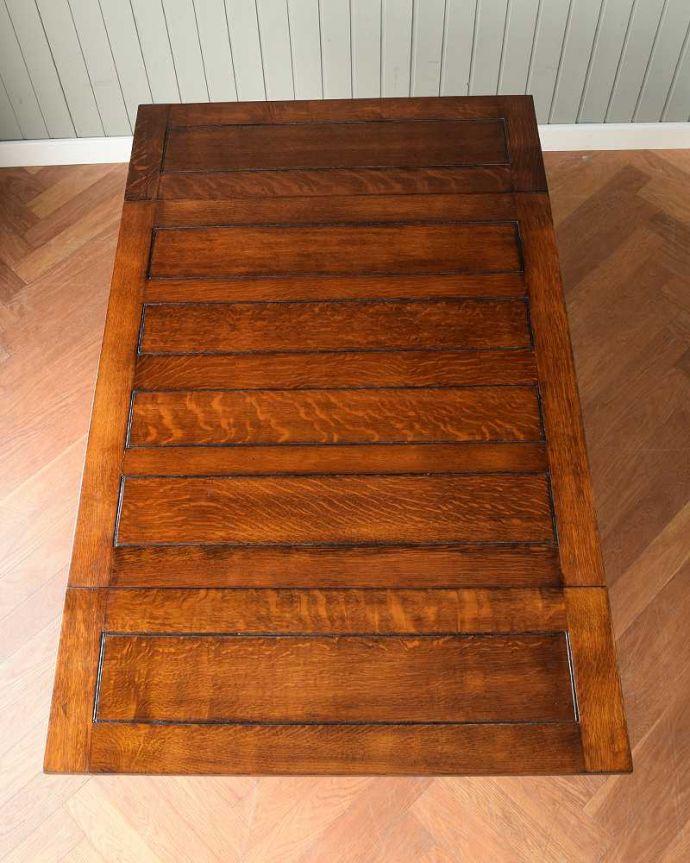 q-1608-f アンティークドローリーフテーブルの天板(開いた状態)