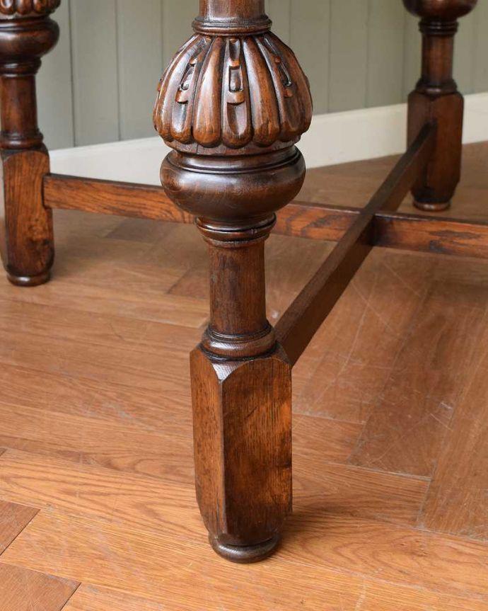 q-1608-f アンティークドローリーフテーブルの脚