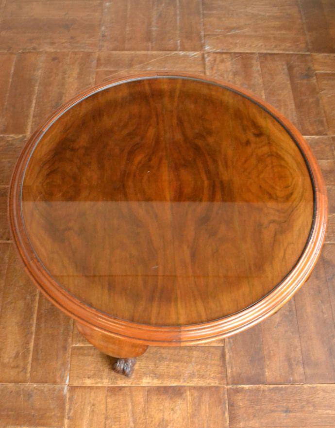 j-1625-f アンティークセンターテーブル(円型)の天板