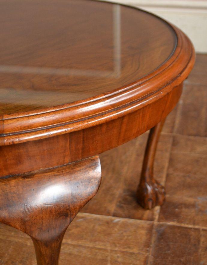 j-1625-f アンティークセンターテーブル(円型)の角