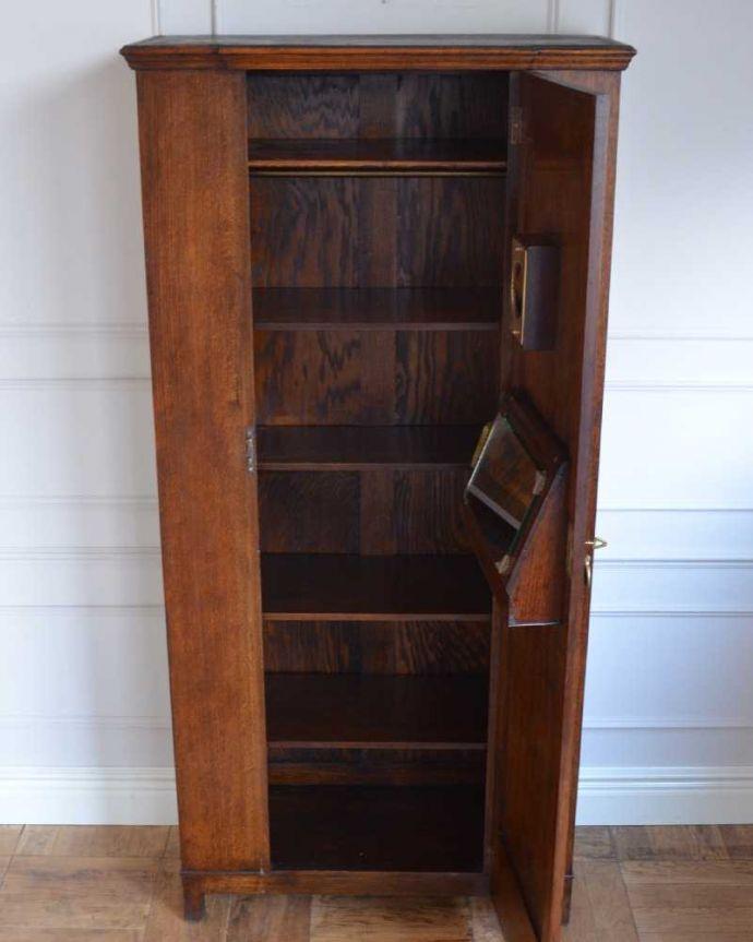 q-1646-f アンティークワードローブの扉内部