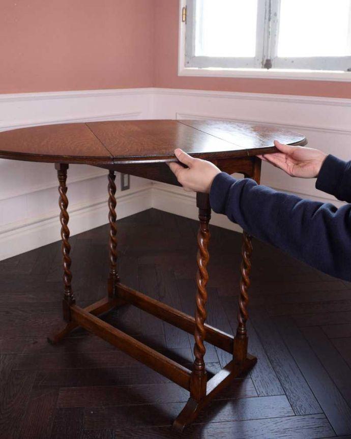 q-1656-f  アンティークテーブルの組み立て方