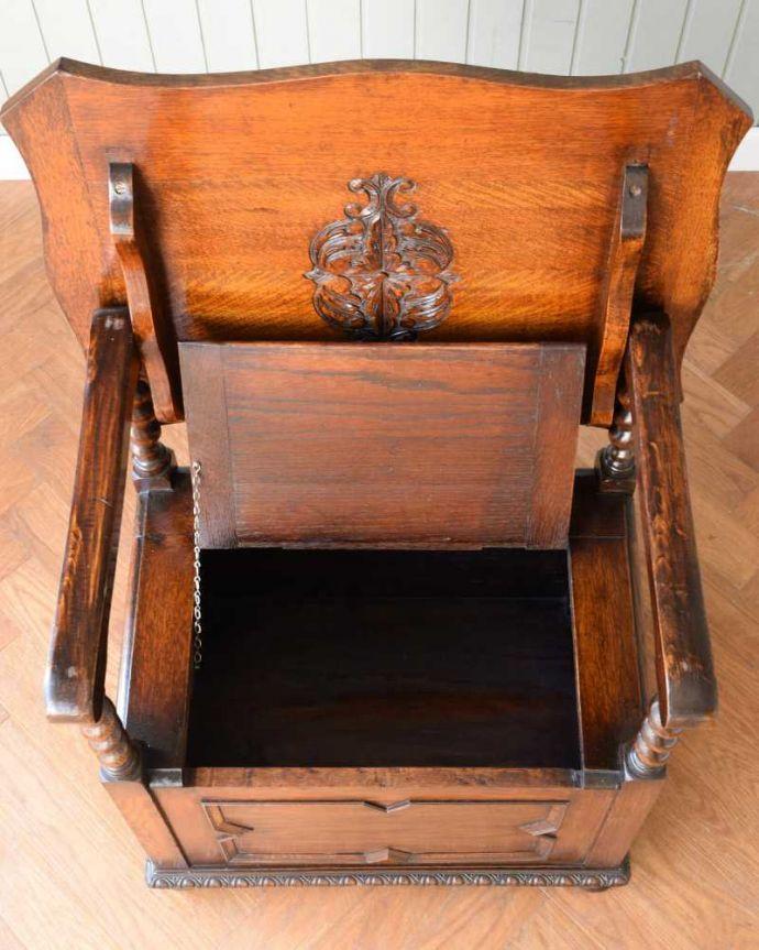 q-1658-f アンティークコファの箱内