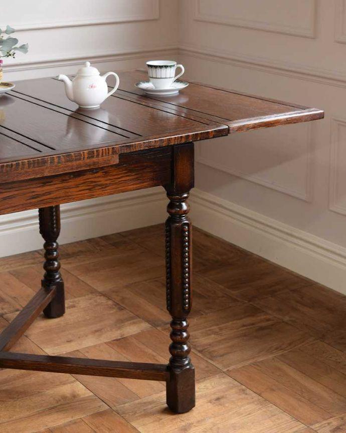 q-1671-f アンティークドローリーフテーブルのズーム