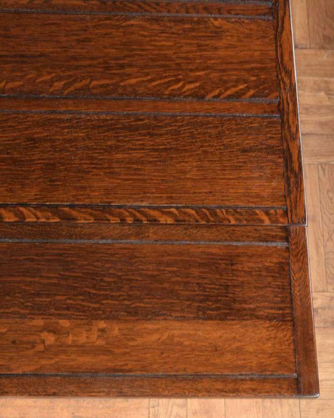 q-1671-f アンティークドローリーフテーブルの天板ズーム