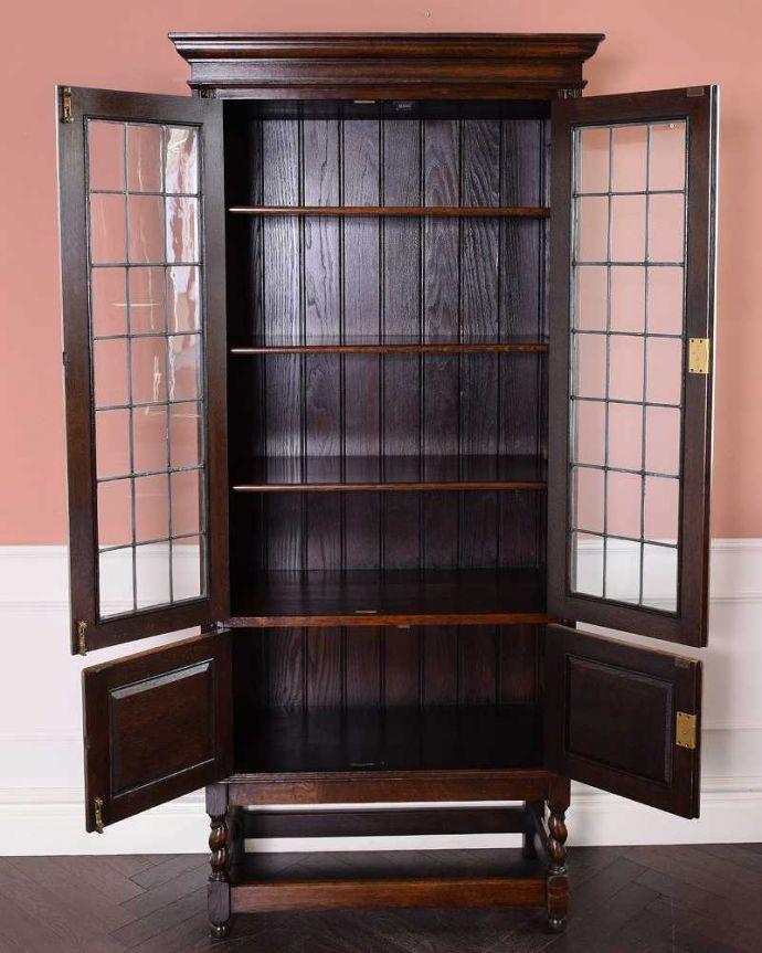 q-1681-f アンティークキャビネットの扉内部