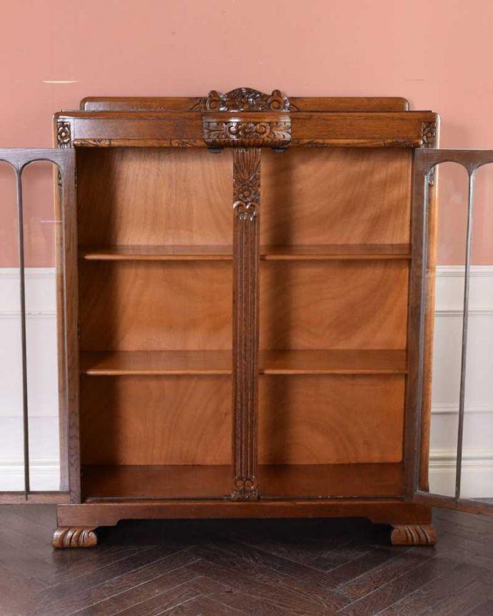 q-1685-f アンティークブックケースの扉内部