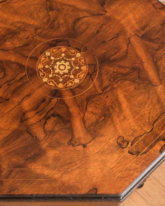 q-1688-f  アンティークオケージョナルテーブルの天板ズーム