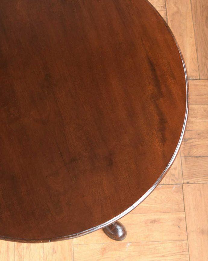 q-1713-f アンティークワインテーブルの天板ズーム