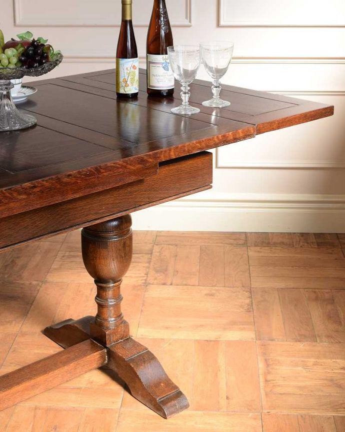 q-1742-f アンティークドローリーフテーブルのズーム