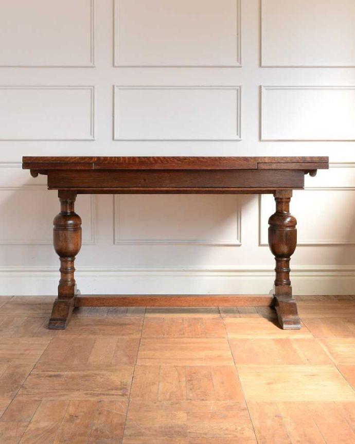 q-1742-f アンティークドローリーフテーブルの横-(天板とじて)