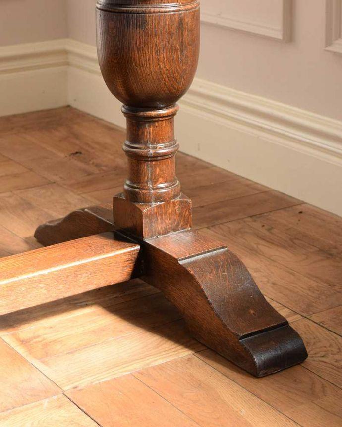 q-1742-f アンティークドローリーフテーブルの脚