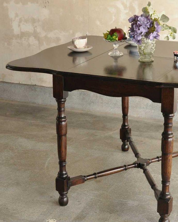 q-1754-f ビンテージダイニングテーブルのズーム