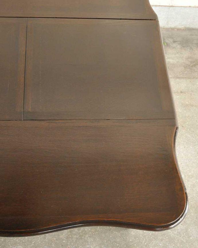 q-1754-f ビンテージダイニングテーブルの天板ズーム