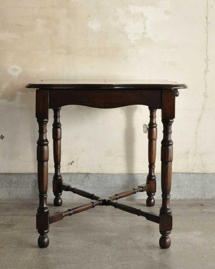 q-1754-f ビンテージダイニングテーブルの横(閉じた状態)