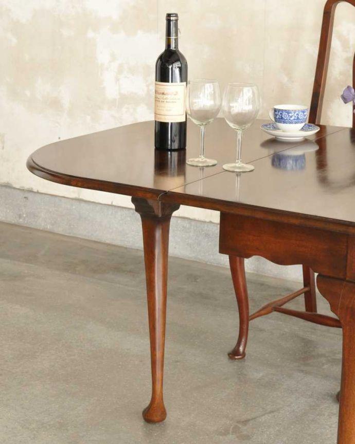 q-1780-f アンティークダイニングテーブルのズーム
