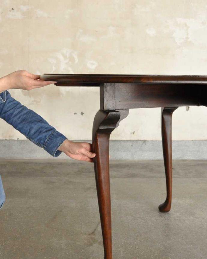 q-1780-f アンティークダイニングテーブルの組み立て