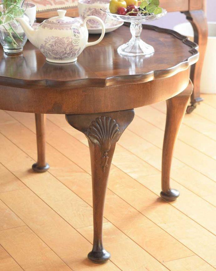 q-1792-f 英国アンティークコーヒーテーブルのズーム