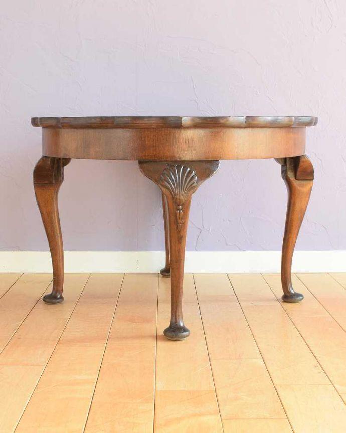 q-1792-f 英国アンティークコーヒーテーブルの後ろ