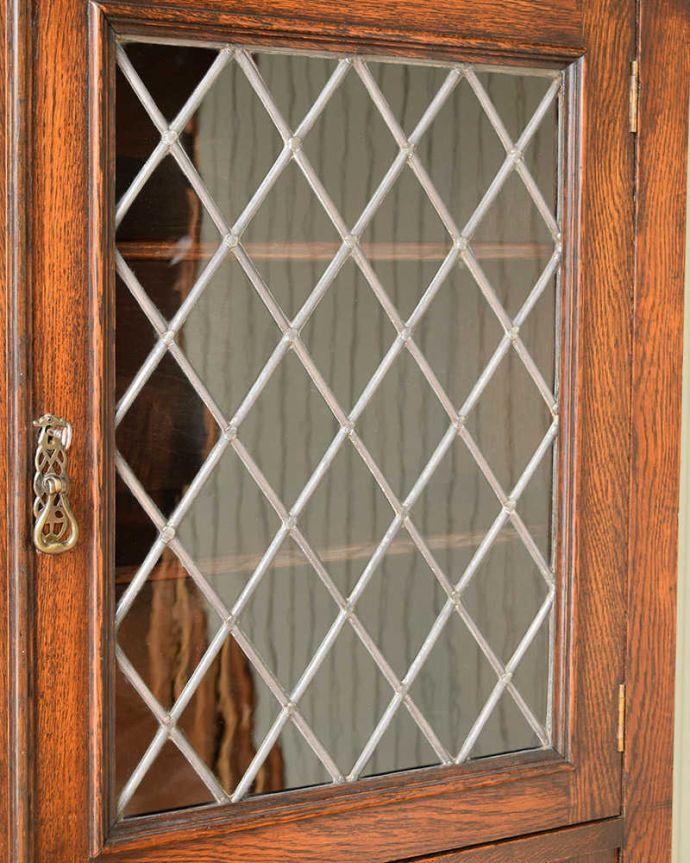q-1813-f アンティークブックケースのガラス戸