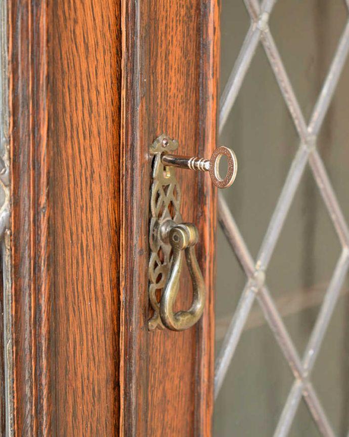 q-1813-f アンティークブックケース鍵