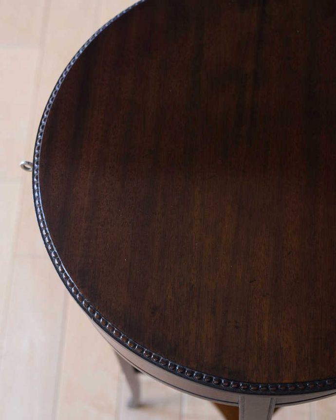 q-1838-f アンティークオケージョナルテーブルの天板ズーム