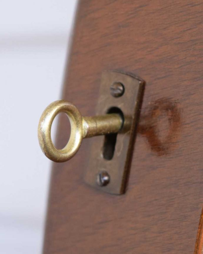 q-1841-f アンティークガラスキャビネットの鍵(取っ手)