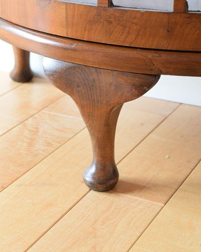 q-1883-f アンティークガラスキャビネットの脚