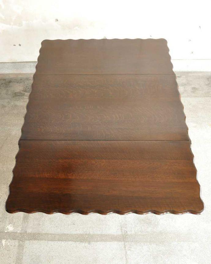 q-1904-f  アンティークゲートレッグテーブルの天板(開いた状態)