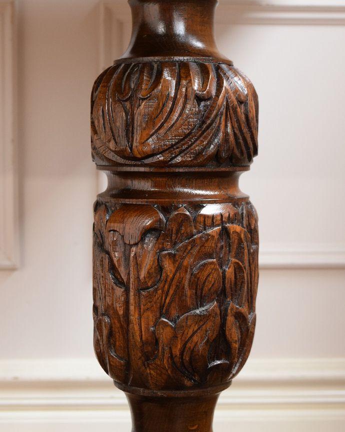 アンティークのテーブル アンティーク家具 英国スタイルの重厚感あふれるアンティークのダイニングテーブル。うっとりする美しさアンティークだから手に入る美しい彫。(q-2050-f)