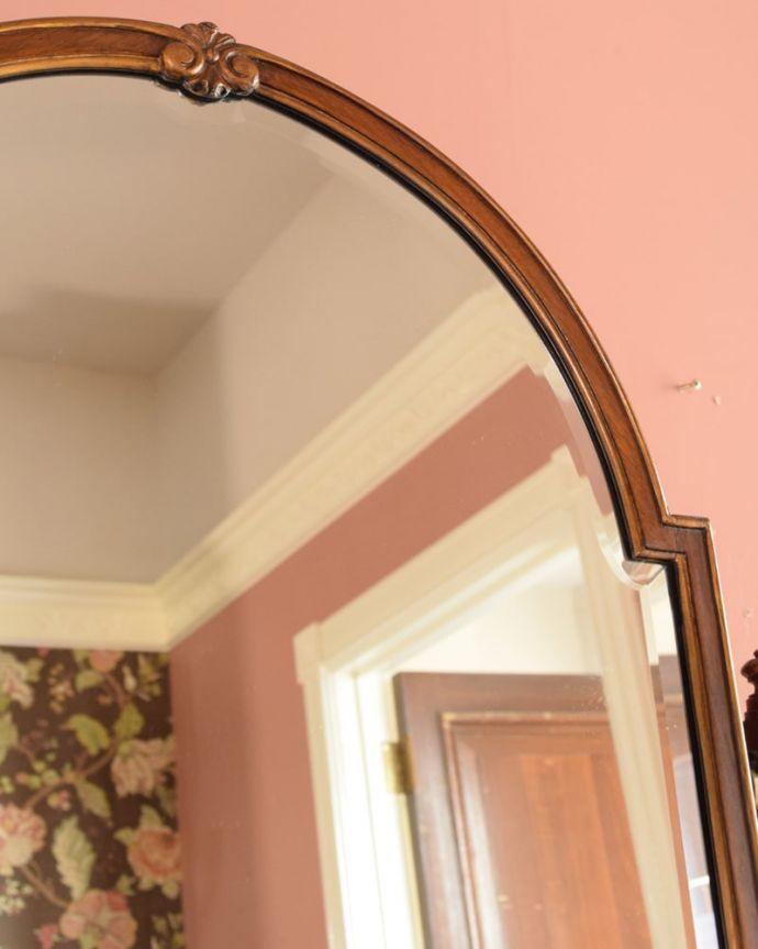 アンティークのドレッサー アンティーク家具 ドレッシングチェスト 新しいミラーでお届けしますこちらは新しいミラーに交換しました。(q-2225-f)