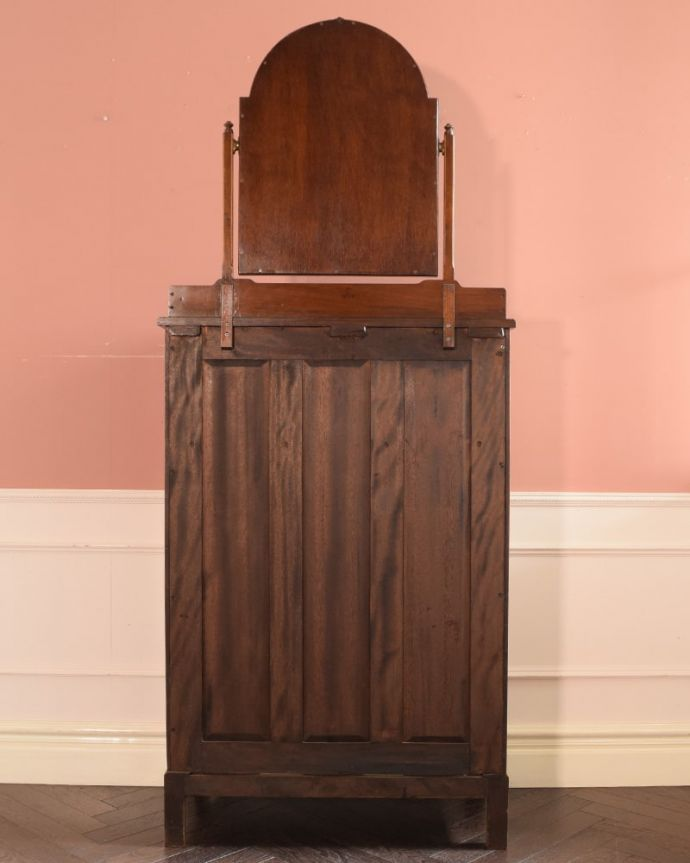 アンティークのドレッサー アンティーク家具 ドレッシングチェスト もちろん後ろ姿もキレイです。(q-2225-f)
