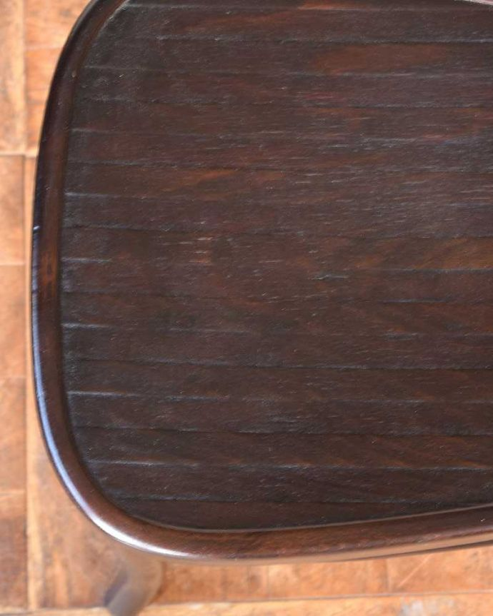 q-224-c  アンティークベントウッドチェアの座面ズーム