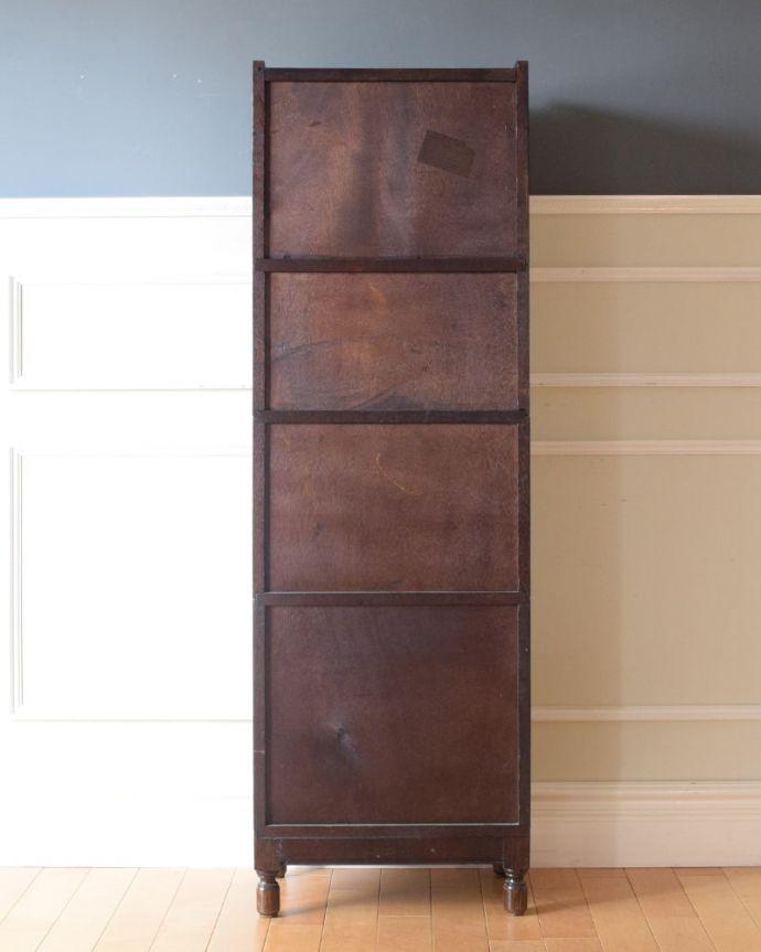 アンティークのキャビネット アンティーク家具 スタッキングブックケース 後ろ姿もキレイです。(q-2318-f)