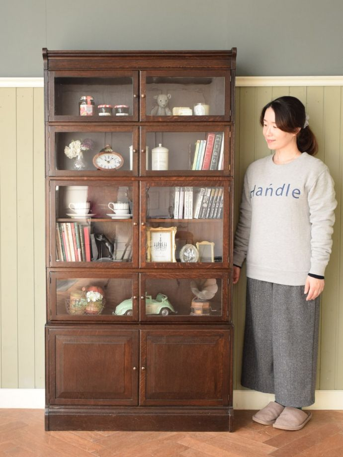 アンティークの本棚、スタッキングブックケース