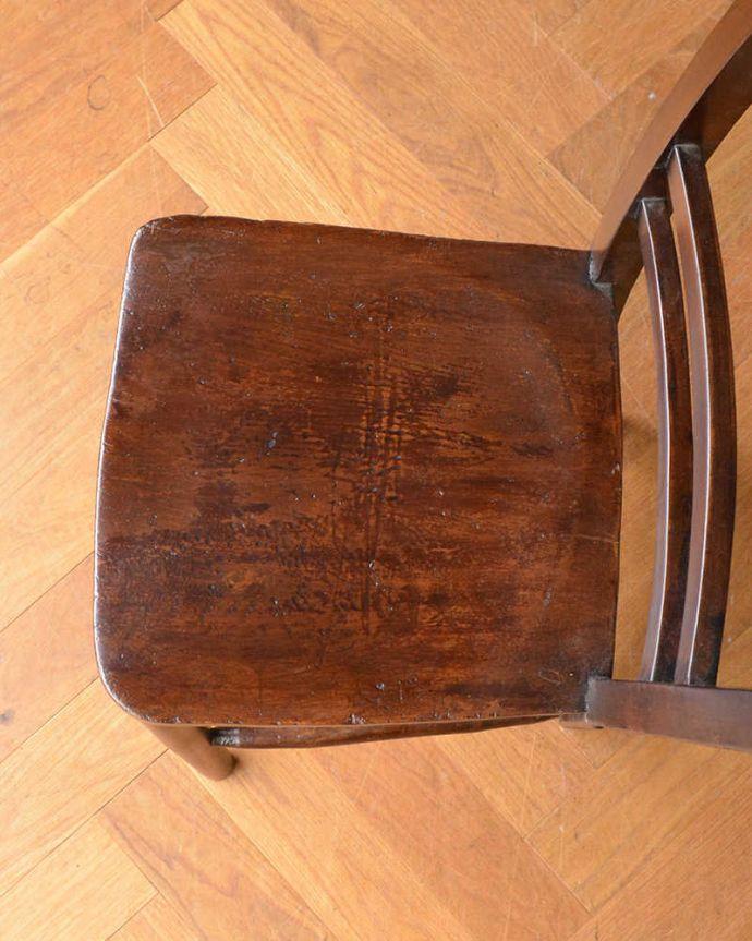 q-250-c アンティークキッチンチェアの座面