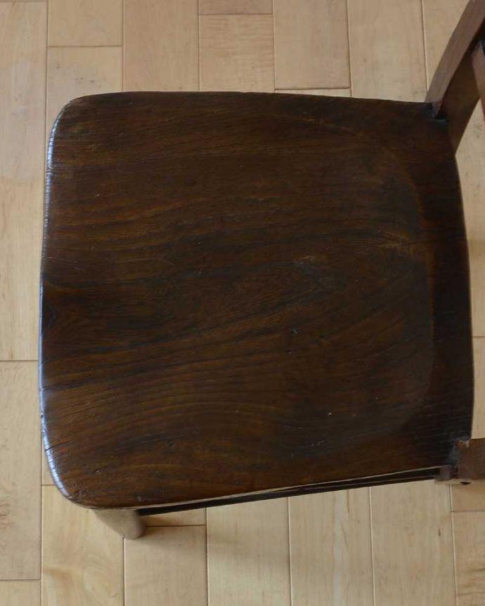 q-253-c アンティークキッチンチェアの座面