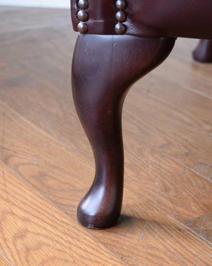 q-317-c アンティークラウンジチェアの脚(普通の脚)