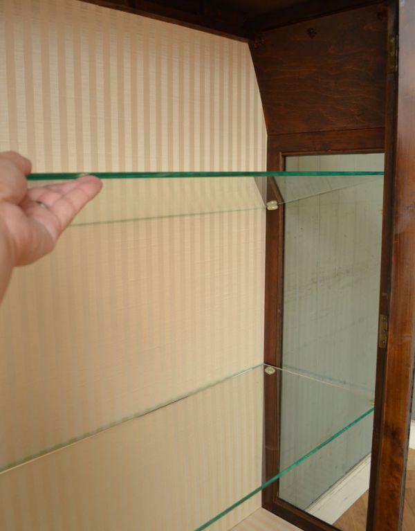 q-364-f-1 アンティークガラスキャビネットの棚板