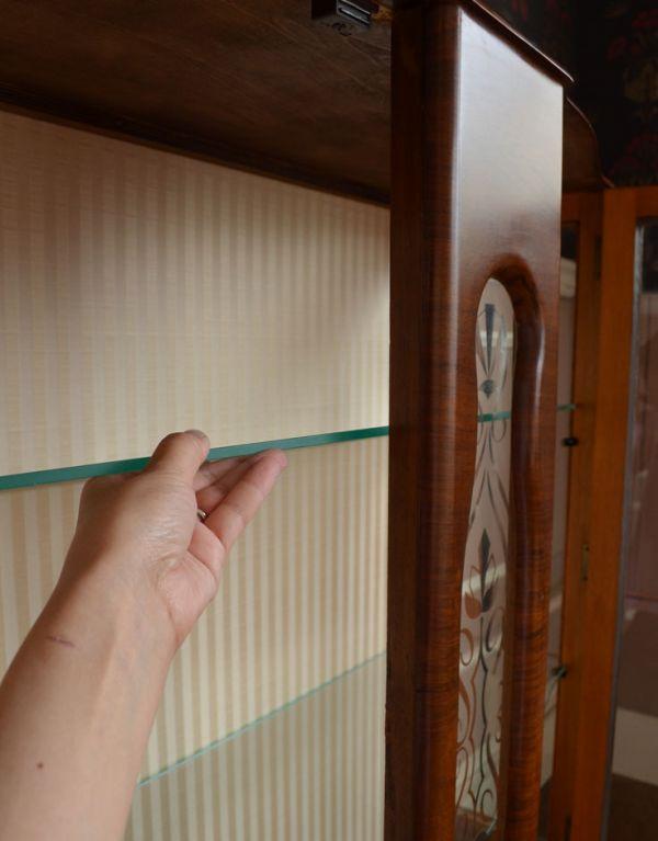 q-494-f アンティークガラスキャビネットの棚板