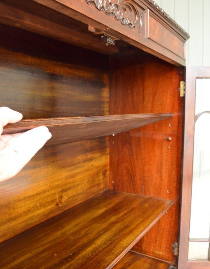q-721-f アンティークブックケースの棚板