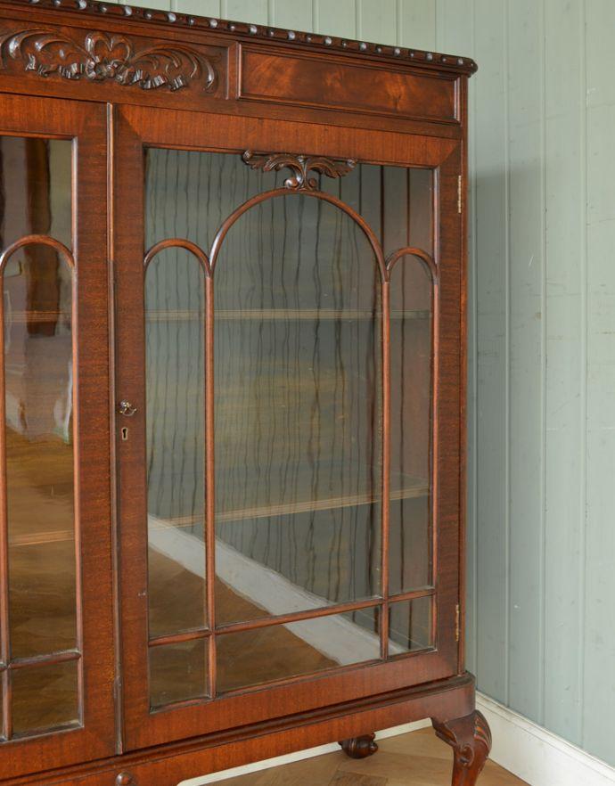 q-721-f アンティークブックケースのガラス戸