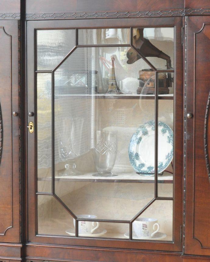 q-774-f アンティークブックケースのガラス戸