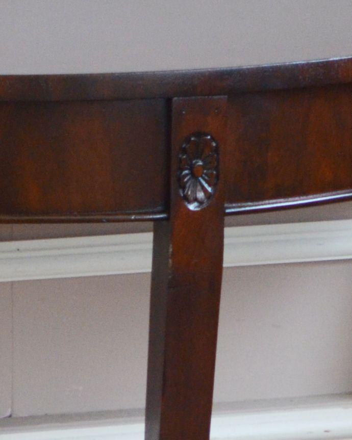 q-783-f アンティークコンソールテーブルの装飾