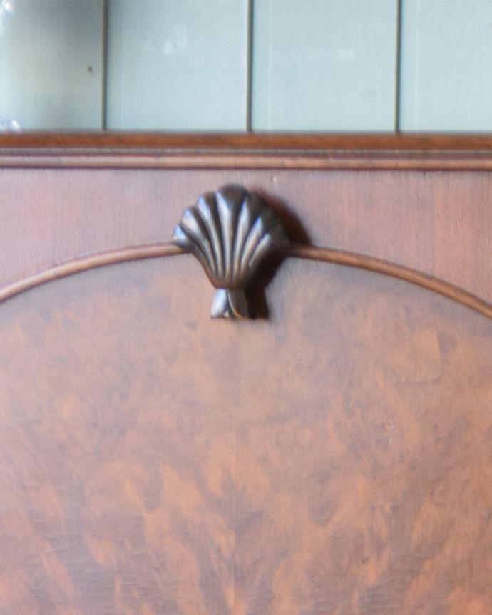 q-827-f アンティークカクテルキャビネットの彫り