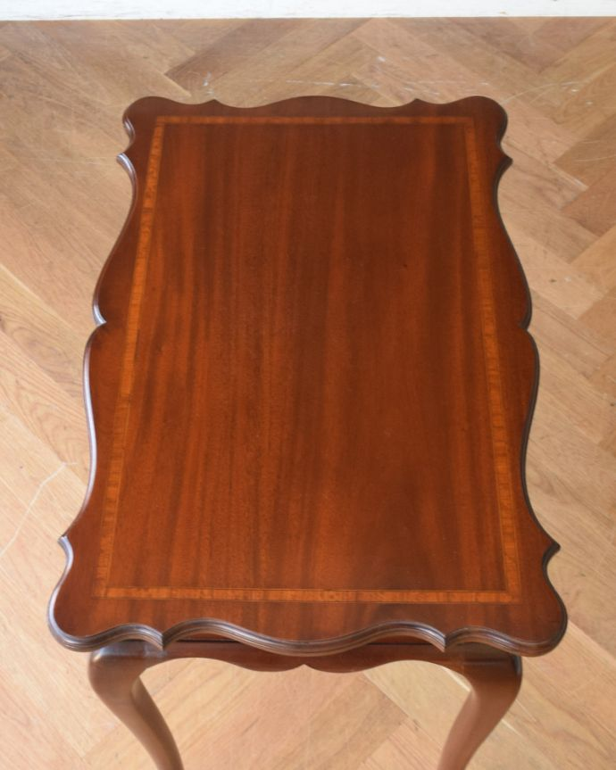 q-830-f アンティークオケージョナルテーブル(ティーテーブル)の天板